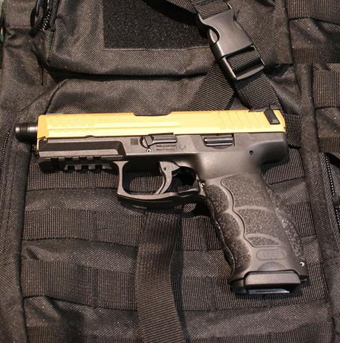 Heckler & Koch SFP9-SD GOLD Cerakote 9mm – Threaded?>
