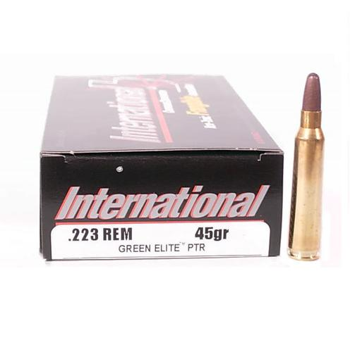 International Cartridge Corporation .223 Rem 45Gr. Green Elite Frangible Ammunition?>