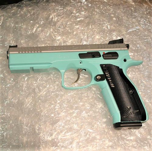 CZ Shadow 2 9mm 4.7″ Tiffany Cerakote?>
