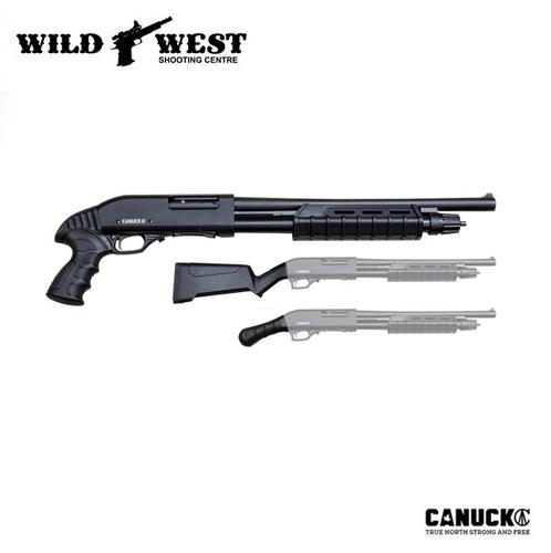 Canuck Enforcer 12ga. Pump-Action 3 Stock Combo?>