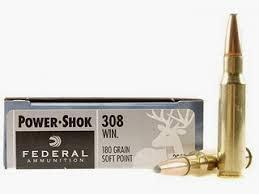 FEDERAL POWER-SHOK 308 WINCHESTER 180 GRAIN SOFT POINT BOX OF 20?>