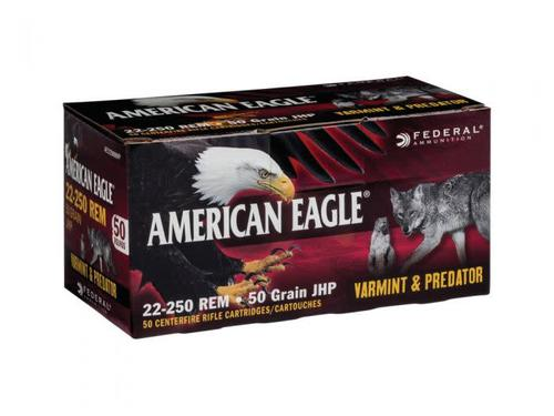 American Eagle 22-250 50 Grain JHP 50 Rounds?>