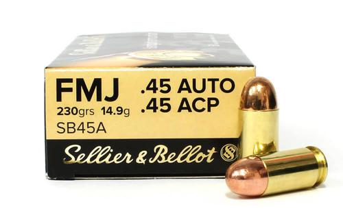 Sellier & Bellot 45 ACP, 230gr, FMJ, Case of 1,000?>