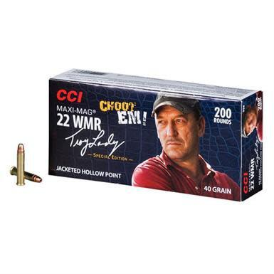 CCI Maxi-Mag Ammunition 22 Winchester Magnum Rimfire (WMR) Troy Landry Special Edition 40 Grain Jacketed Hollow Point?>