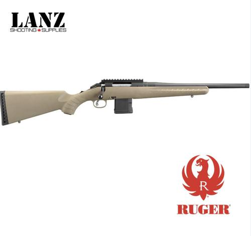 "Ruger American Ranch Bolt Action Rifle 7.62x39 16"" Threaded Barrel 5 Rounds Synthetic Stock FDE?>"