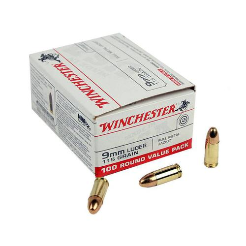 Winchester 9mm 115gr FMJ 100rd Value Pack?>