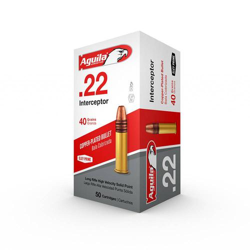 Aguila .22 Interceptor 40 Gr. 50 per box?>