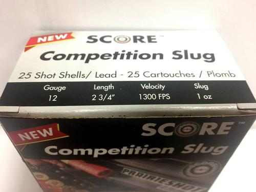 SCORE 12 G. COMPETITION SLUG Case of 250/rds?>