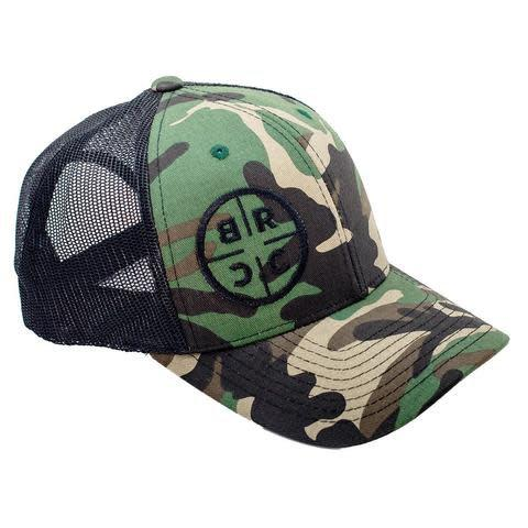 BRCC - TRUCKER HAT - CAMO WITH BLACK MESH?>