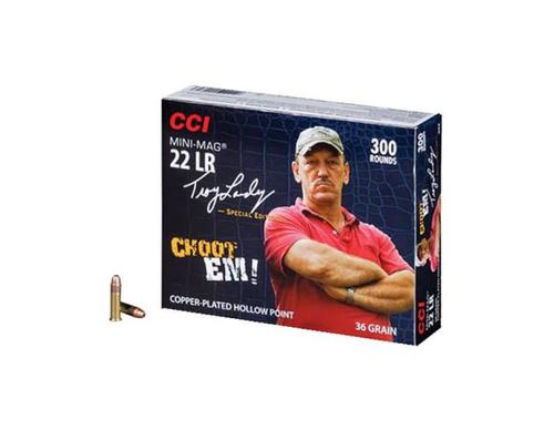 CCI Mini-Mag High Velocity Ammunition, 22 Long Rifle, Troy Landry Swamp People Special Edition, 36 Grain Plated Lead Hollow Point, Box of 300 Rounds?>