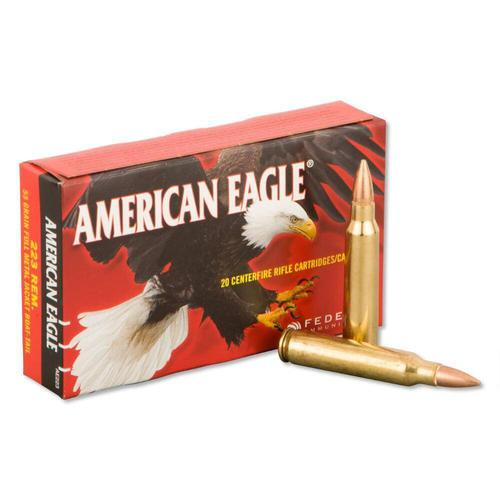 Federal American Eagle 223 Rem, 55gr, FMJ, Box of 20?>