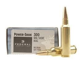FEDERAL POWER-SHOK 300 WIN SHORT MAG 180 GR SOFT POINT NOSE SOFT POINT BOX OF 20?>