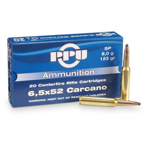 PPU 6.5x52 Carcano 139 Gr. FMJ BT Box of 20?>