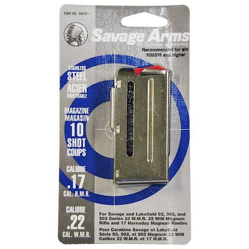 Savage Arms 17HMR 22WMR 10 Round Stainless Magazine?>