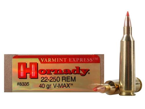Hornady Varmint Express Ammunition 22-250 Remington 40 Grain V-MAX Box of 20?>