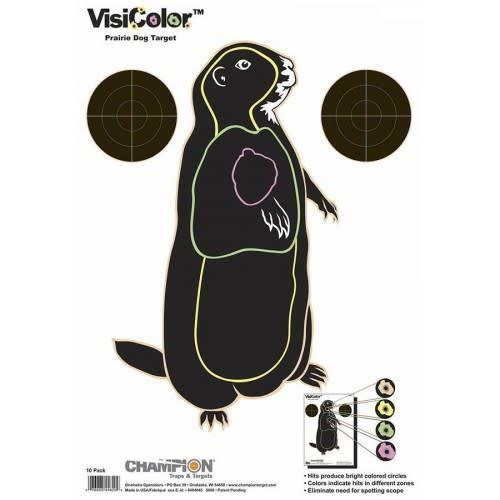 Champion Visicolor Prairie Dog Target 10 Pack?>