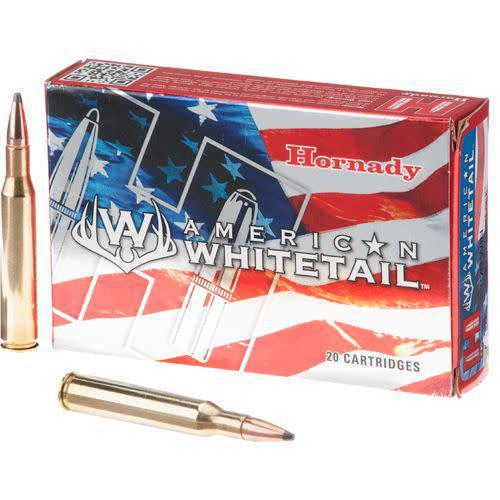 HORNADY AMERICAN WHITETAIL 243 WINCESTER 100 GRAIN INTERLOCK SPIRE POINT BOAT TAIL BOX OF 20?>