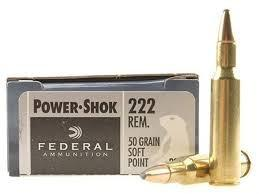 FEDERAL POWER-SHOK 222 REMINGTON 50 GR. SP BOX OF 20?>