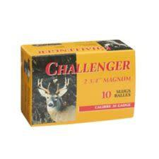 "Challenger Magnum Rifled Shotgun Slugs 20 Gauge 2 3/4"" Box of 10?>"