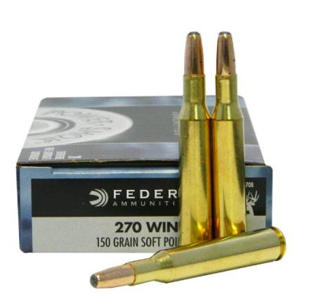 Federal Power-Shok 270 Winchester 150 Grain Round Nose Soft Point Box of 20?>