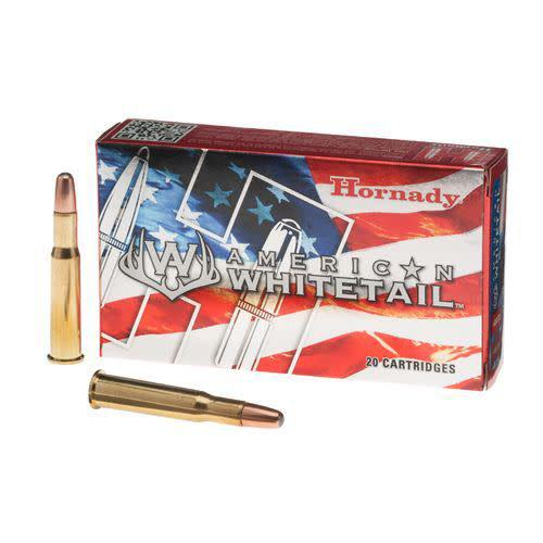 HORNADY AMERICAN WHITETAIL 30-30 WINCHESTER 150 GRAIN INTERLOCK SPIRE POINT BOAT TAIL BOX OF 20?>