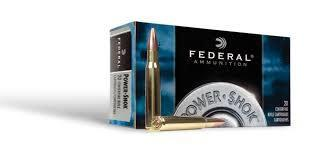 FEDERAL POWER-SHOK 338 FEDERAL 200 GR UNI-COR SOFT POINT NOSE SOFT POINT BOX OF 20?>