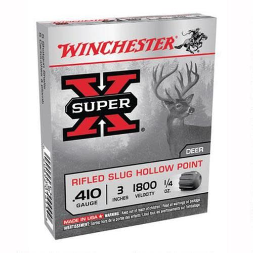"Winchester .410 3"" Rifled Hollow Point Slug Box Of 5?>"