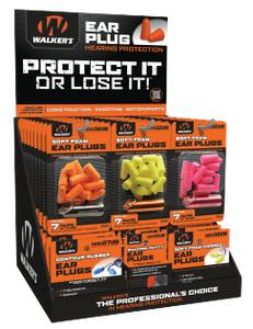Walkers Game Ear Foam Ear Plugs Counter Display GWPPLUGDIS?>