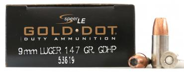 Speer LE          	Speer® LE Gold Dot® Duty Ammunition 9mm 147 GR GDHP?>