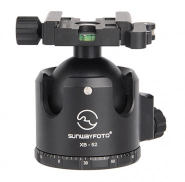 Sunwayfoto          	52mm Low-Profile Ball Head with Quick-Lever Clamp?>