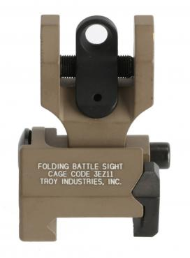 Troy Industries          	Rear Folding BattleSight - Round Aperture - FDE?>
