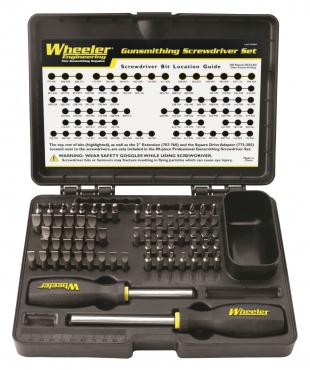 Wheeler Engineering          	72 Piece Professional Gunsmithing Screwdriver Set?>