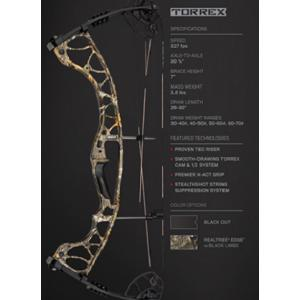 HOYT Torrex 70# LH Compound Bow Package - Realtree Edge?>