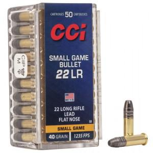 CCI Small Game Bullet Rimfire 22LR 40gr Ammunition?>