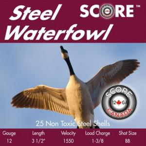 "Score Waterfowl Steel 20ga 3"" #2 Ammunition - 250RD CASE?>"