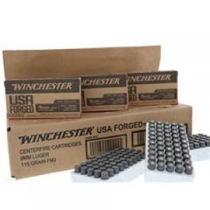 Winchester USA Forged 9mm Luger 115gr Ammunition - 150RDS?>