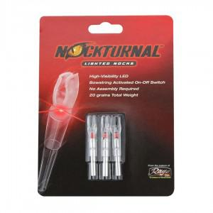 Nockturnal G Red Lighted Nock - 3 Pack?>