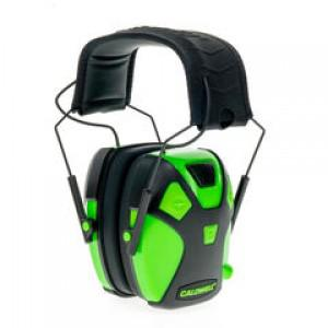 Caldwell Low-Profile Youth Electronic Noise Cancelling Hearing Protection - Neon Green?>