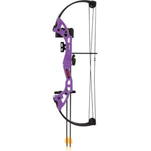 Bear Brave RH 15#-25# Compound Bow *Package* - Purple?>