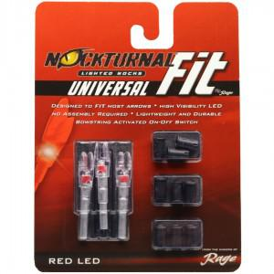 Nocturnal Fit Nock Universal - 3 Pack Red?>