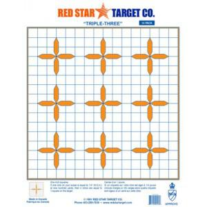 Red Star Triple Three Targets - 10 Pack?>