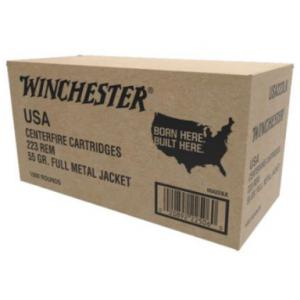 Winchester USA 223Rem 55gr FMJ - 1000 Rounds?>