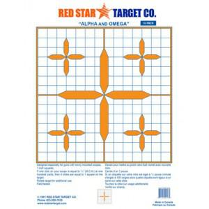 Red Star Alpha and Omega Target - 10 Pack?>