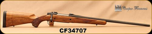 "Consign - Cooper - 270Win - M52 Custom Classic - AAA FrenchWalnut/Blued, 24"" Fluted Barrel, Warne Bases - In original box w/papers?>"