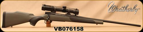 "Consign - Weatherby - 338WM - Vanguard S2 - Grey Synthetic w/soft touch panels/Blued, 24""Barrel, c/w Bushnell Elite 6500, 1.25-8x32mm, Multi-X Reticle - original scope box?>"