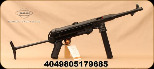 "GSG - 9mm - MP-40 - Restricted - Semi-Auto - Black Folding Stock/Blued, 9.96""Barrel, Active Ejector, Folding Rear sight, Mfg# 940.00.03?>"