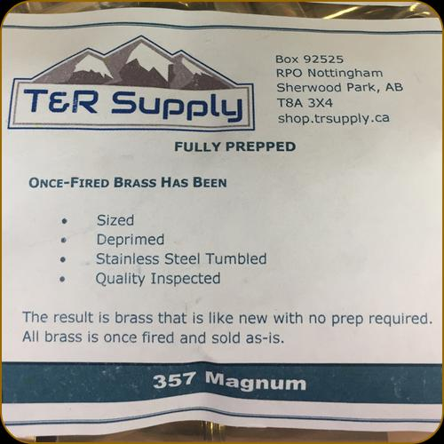 T&R Supply - 357 Magnum - Once-Fired Brass - Mixed - 100ct?>
