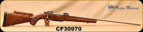 "Consign - Cooper - 340WbyMag - Model 52 Jackson Game - AAA Claro Walnut stock w/roll over cheek piece/Matte Stainless, 26""Barrel, 3rd Detachable Magazine?>"