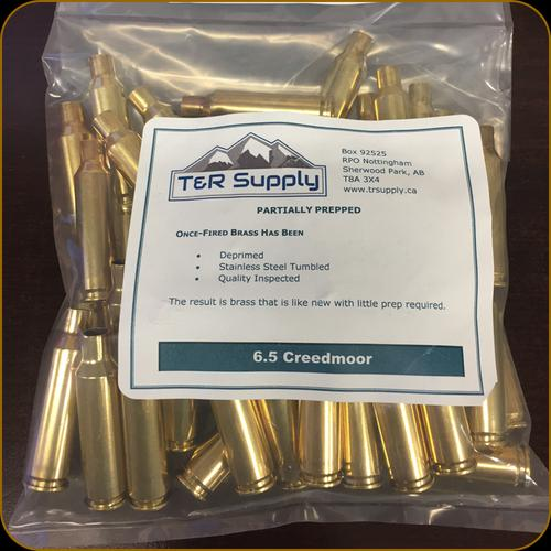 T&R Supply - 6.5 Creedmoor - Once-Fired Brass - Matched Headstamp - Federal - 50ct?>