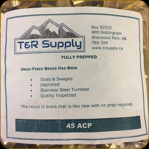 T&R Supply - 45 ACP - Once-Fired Brass - Mixed Large Pistol - 250ct?>